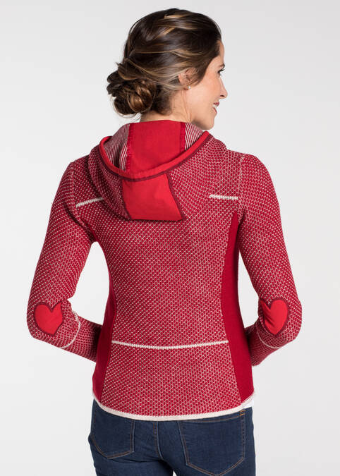 "Strickjacke ""Kulmbach"", Rot Frontansicht"