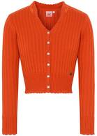 "Strickjacke ""Pfiff"", Orange"